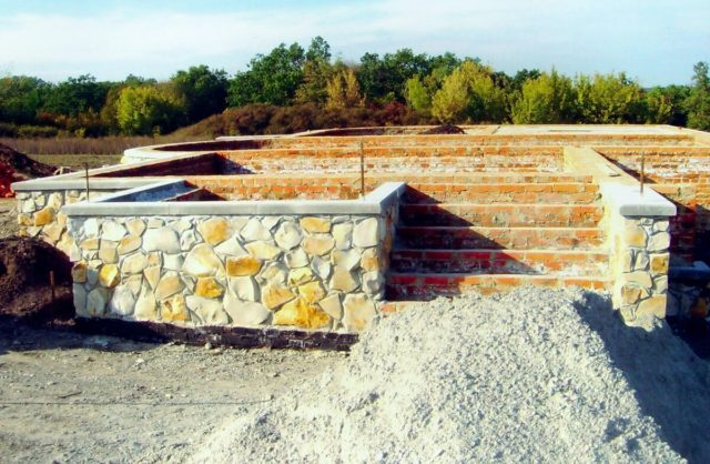 Бутовый фундамент дома