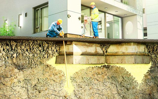 Проверка и укрепление грунта под фундаментом