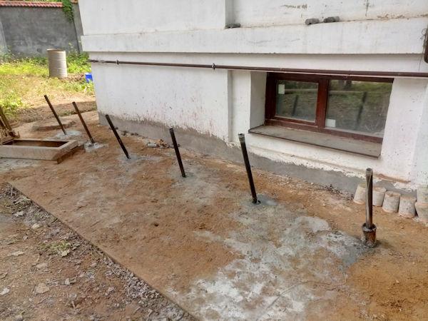 Укрепление грунта под домом