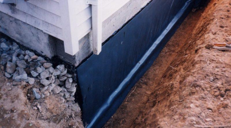 Гидроизоляция между фундаментом и домом