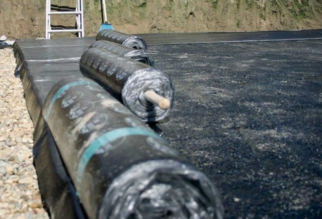 Рулонная гидроизоляция с мастикой и битумом