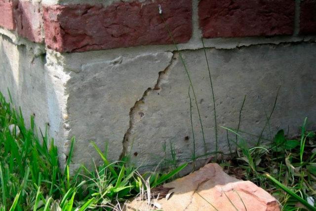 Трещины в ленточном фундаменте