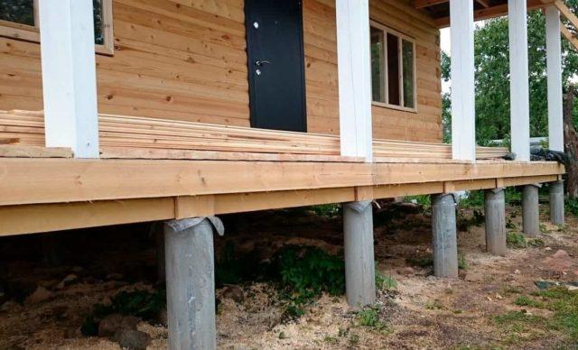 Фундамент дома на свайных опорах