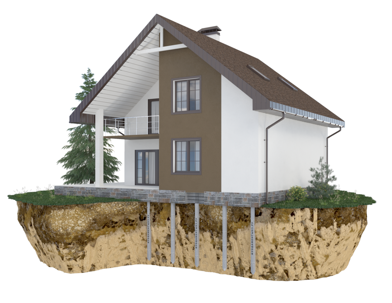 Дом с фундаментом